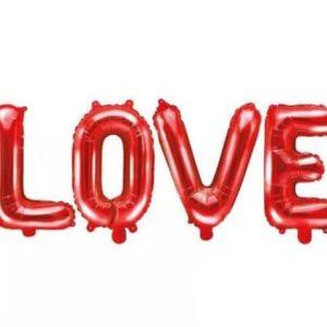 Piros fólia lufi – Love feliratú