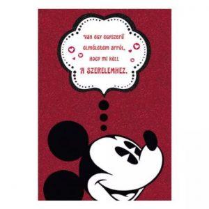 Szerelmes Mickey egér – képeslap pároknak
